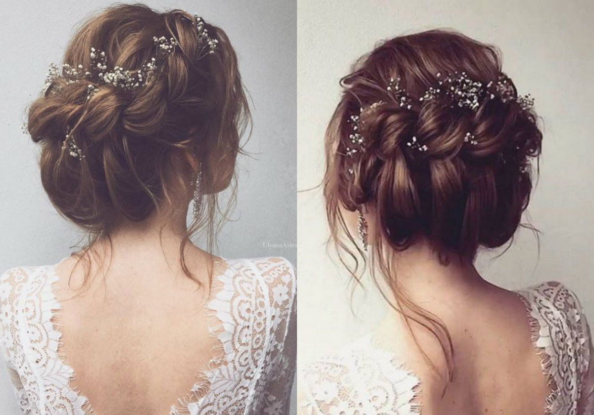twisted updo wedding hairstyles 2018