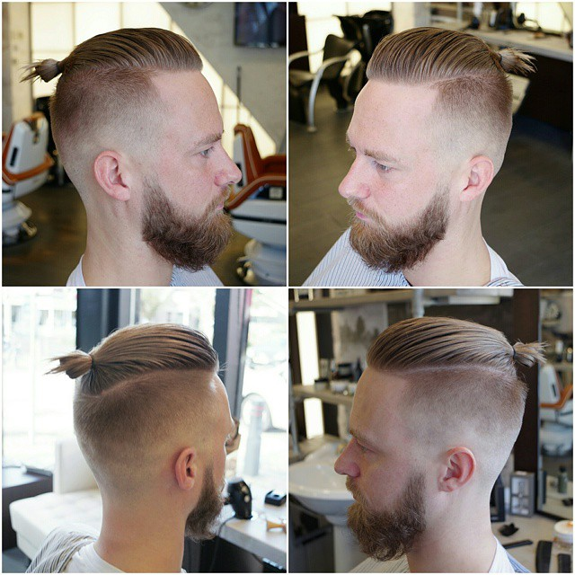 Slick and Straight Side Part Hairstyle