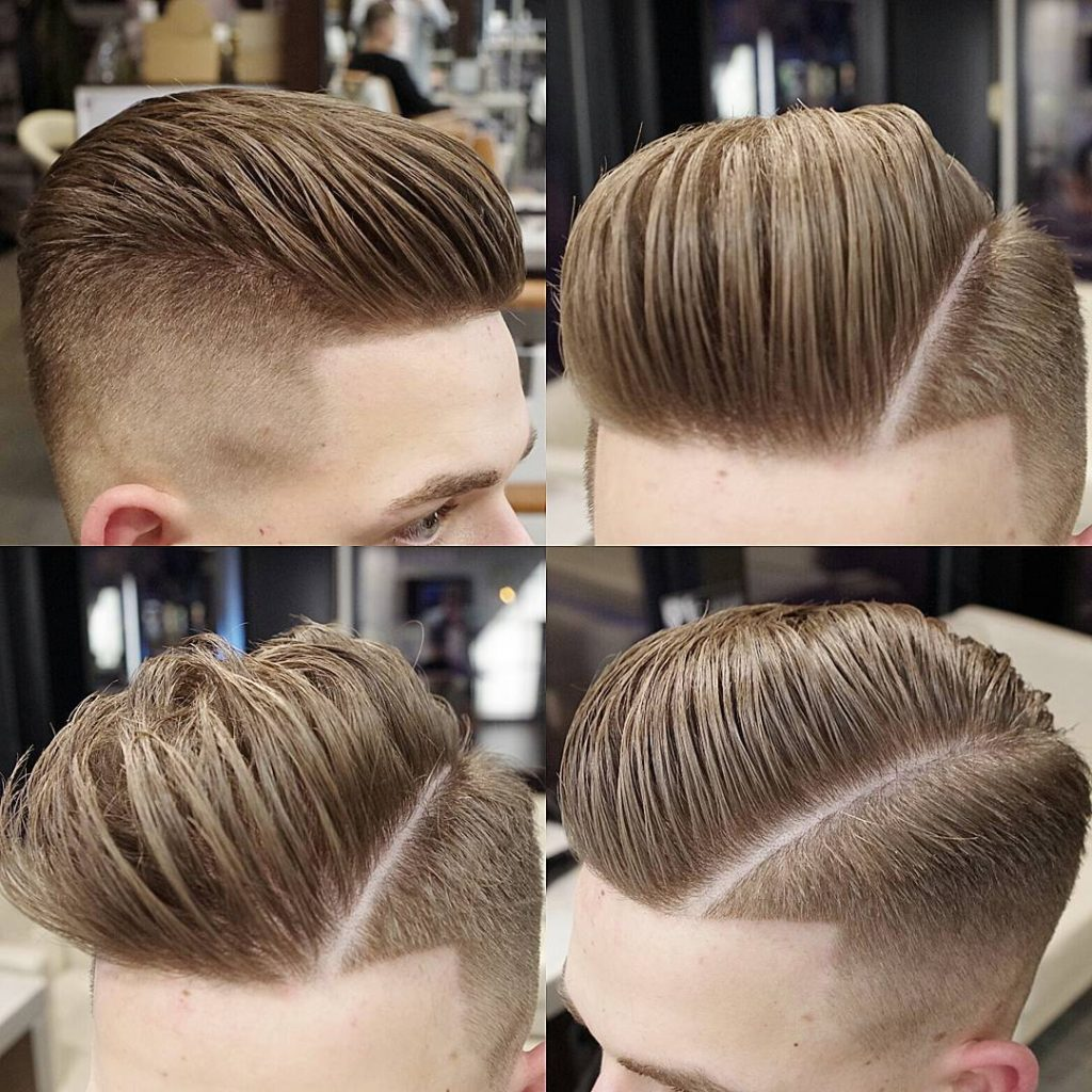 The Loose Combover with Low fade