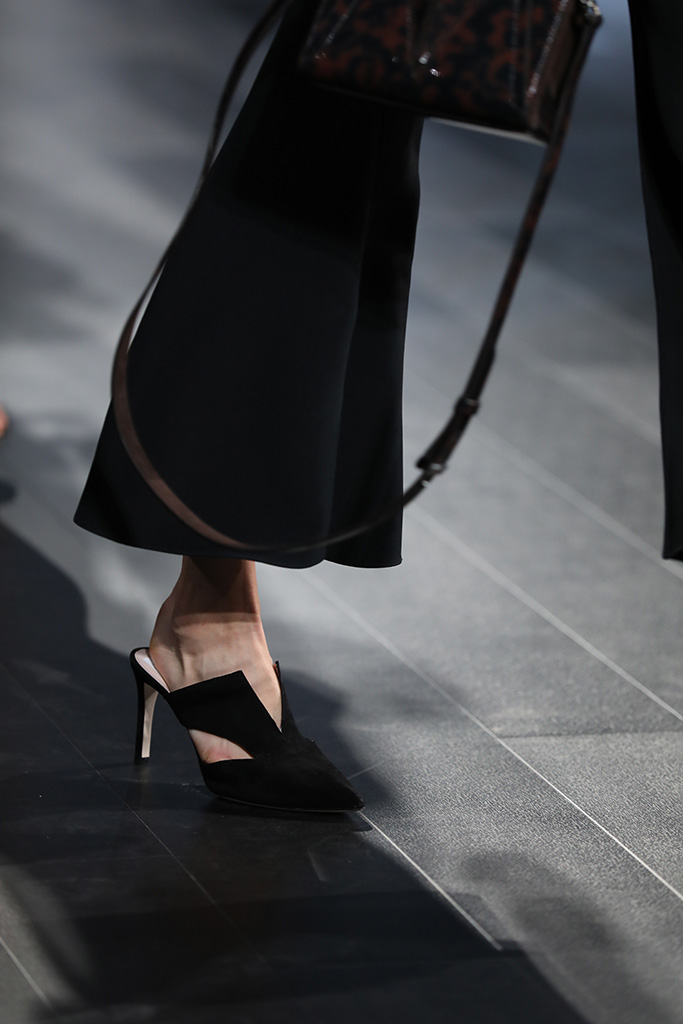 Model on the catwalk, shoe detailCushnie et Ochs show, Runway, Spring Summer 2018, New York Fashion Week, USA - 08 Sep 2017