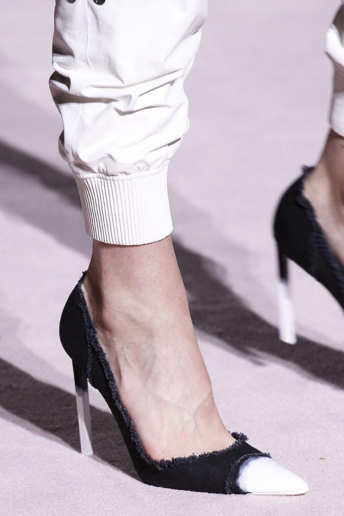 Model on the catwalk, shoe detailTom Ford show, Detail, Spring Summer 2018, New York Fashion Week, USA - 07 Sep 2017