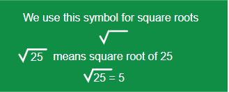 illustrated example of the square root symbol