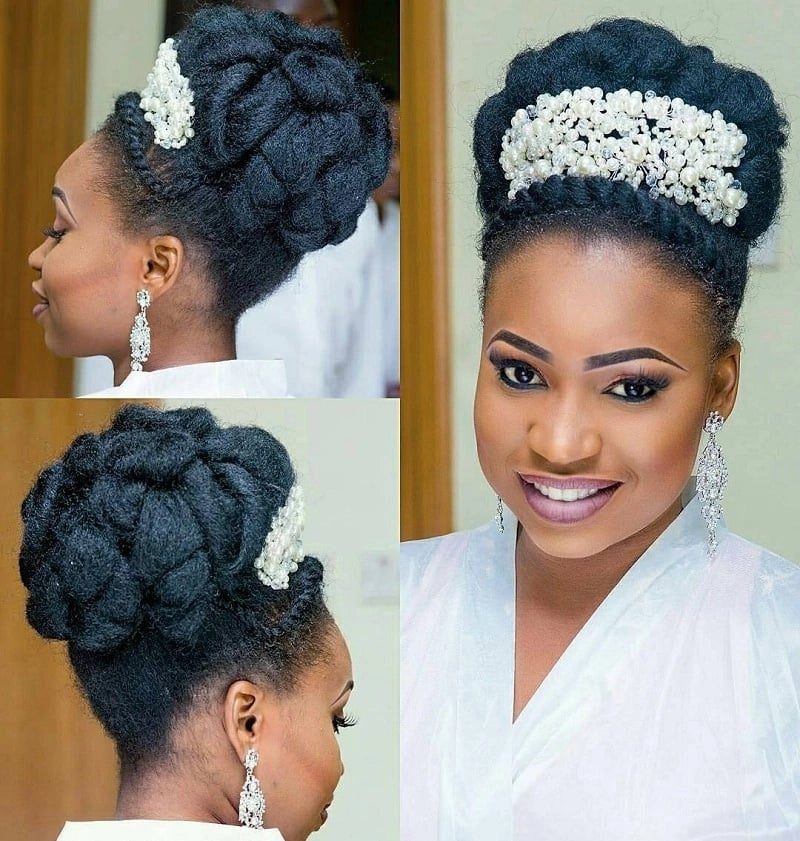 Bridal hairstyles with a diadem
