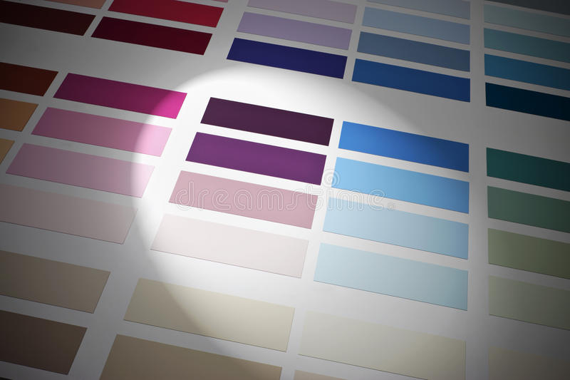 Color Colors Chart Pallet Scheme Background royalty free stock photos