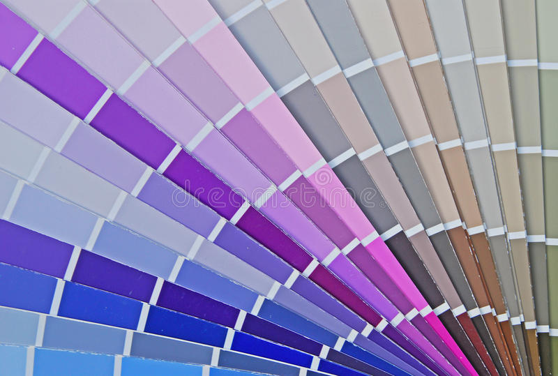 Color Fan Chart for House Paint royalty free stock photography