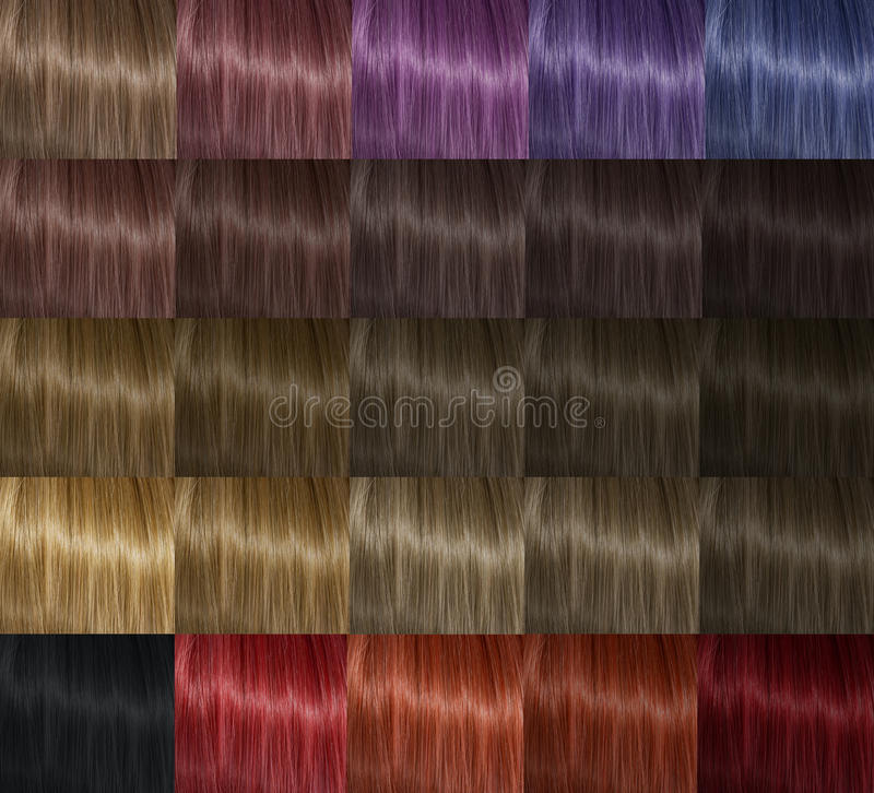 Color palette hair stock photo