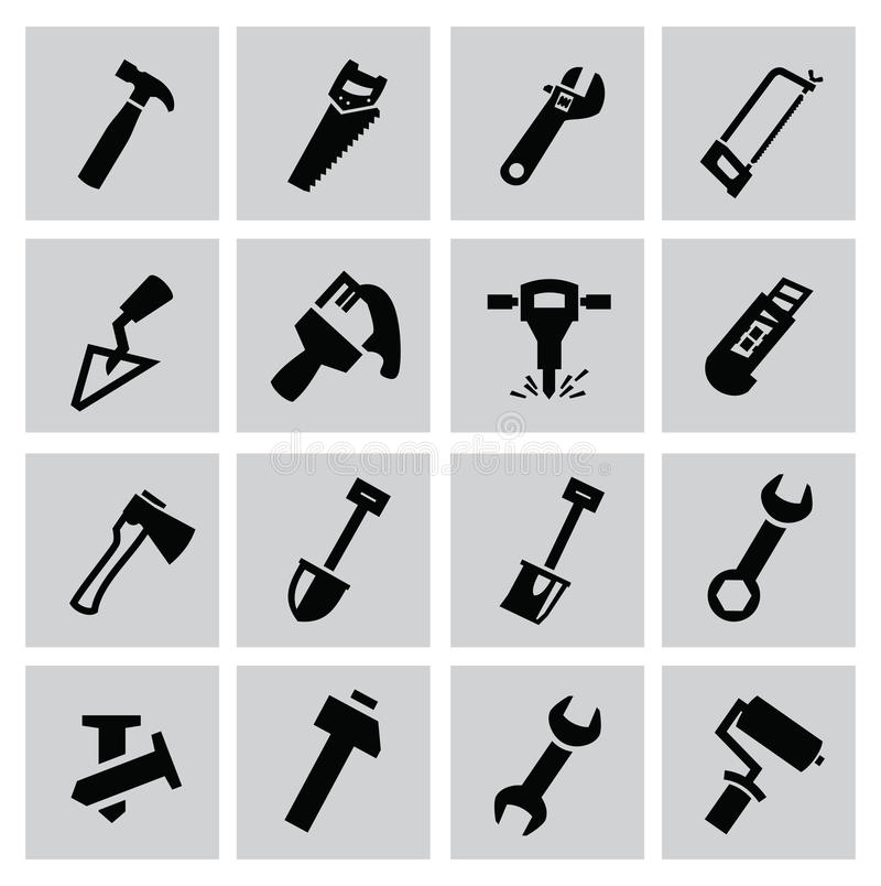 Construction tools royalty free illustration