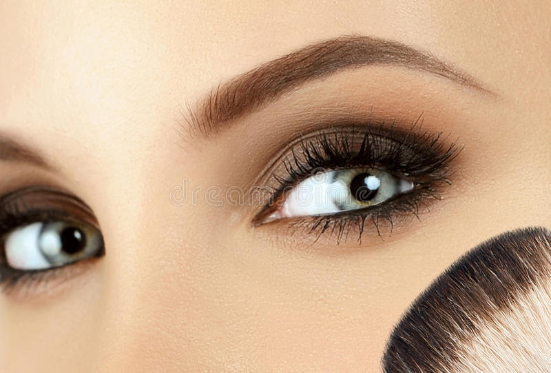 Make-up. Eyebrow Makeup. royalty free stock images