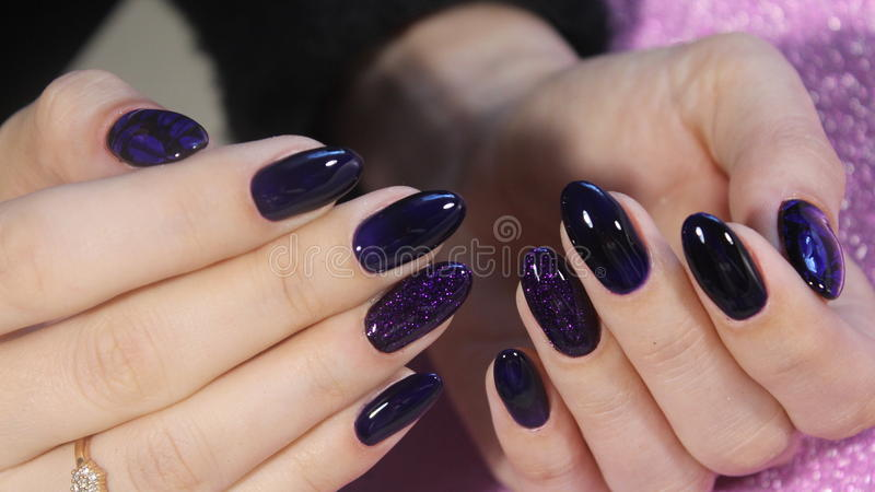 Manicure design royalty free stock photography