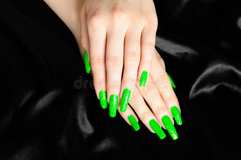 Manicure on real nails stock photography