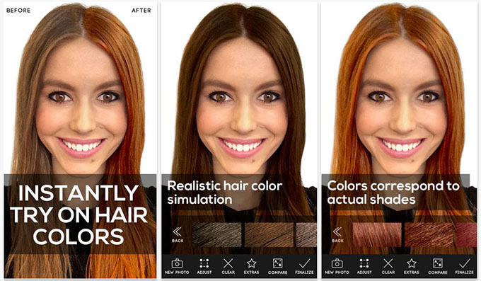 Hair Romance - Modiface hair colour hair app