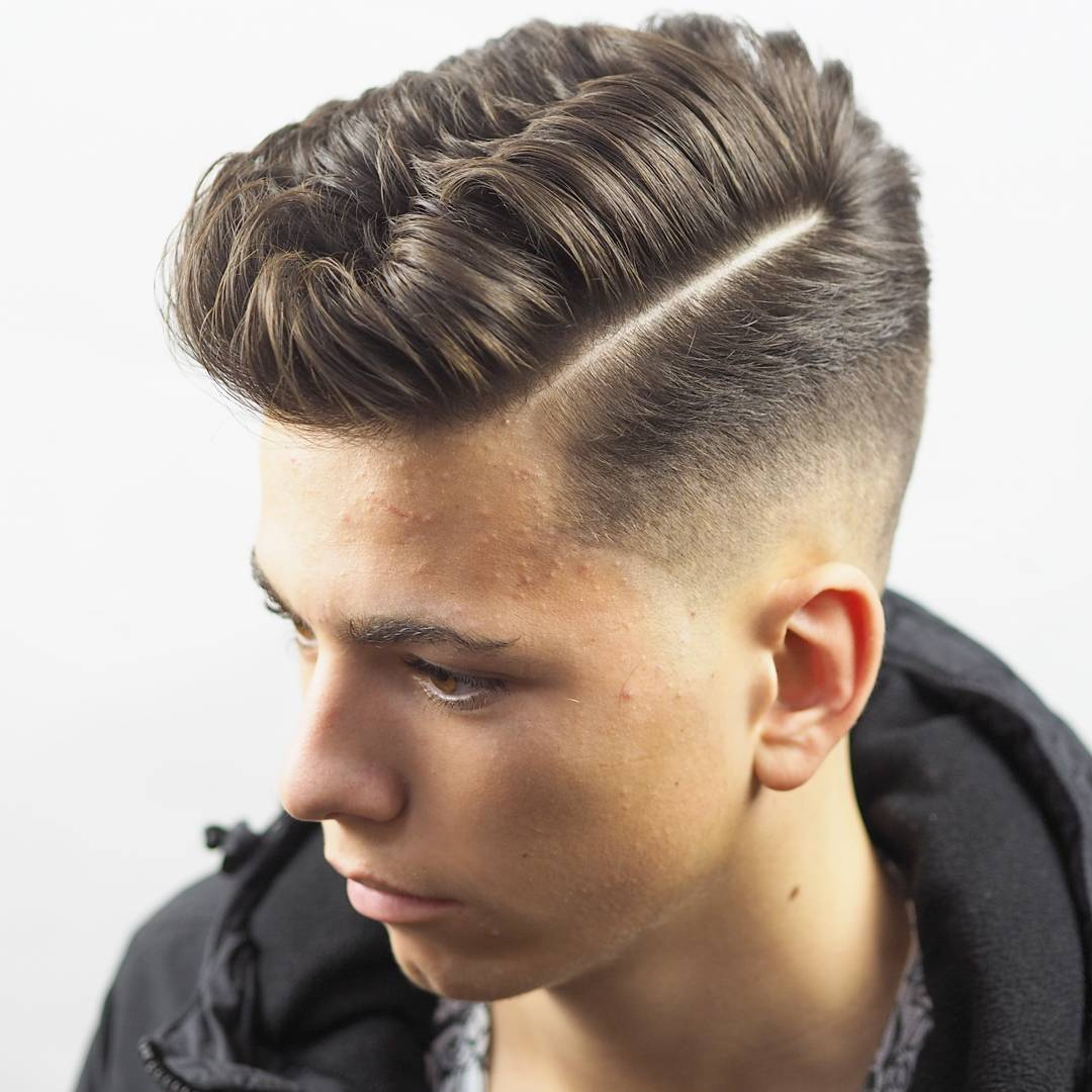 Side part haircut for guys that have thick hair