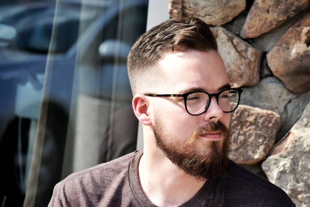 Classic fade haircuts for men with beards