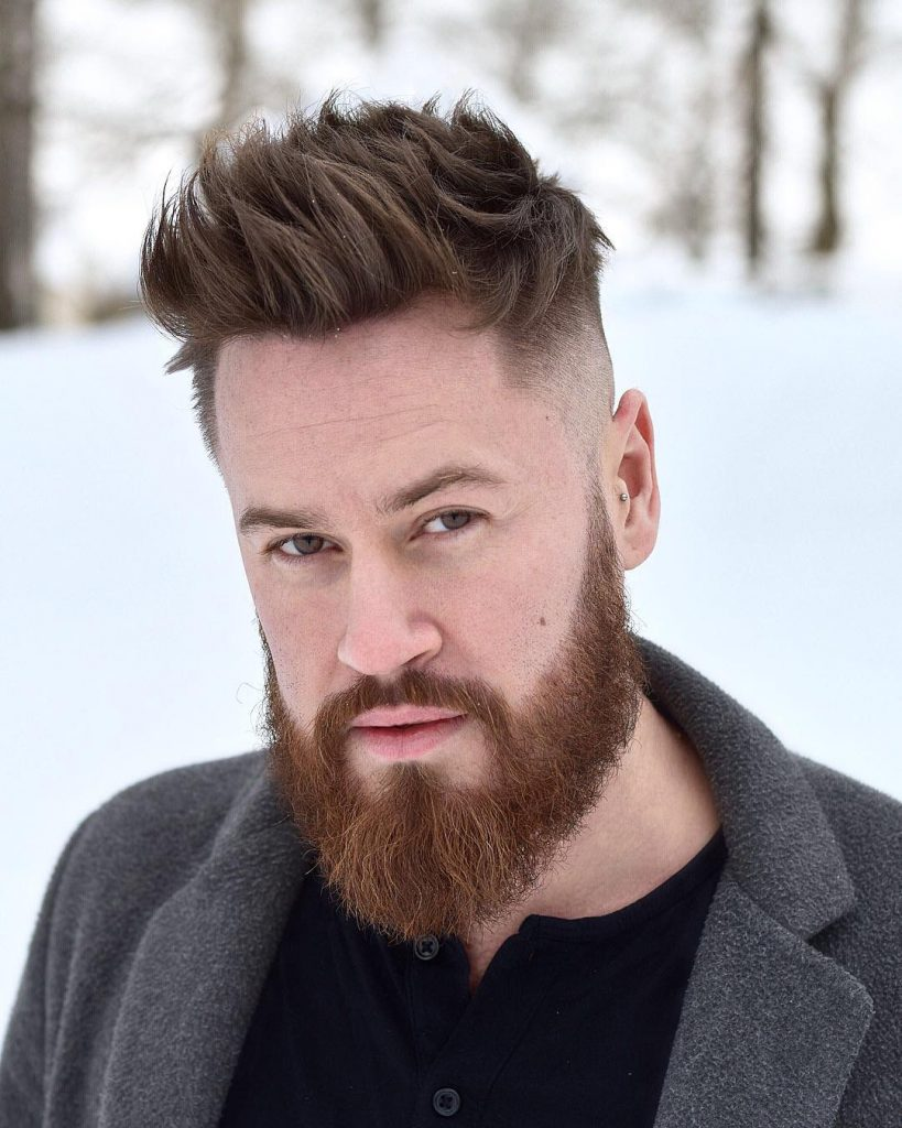 spiky fade haircuts for men with beards
