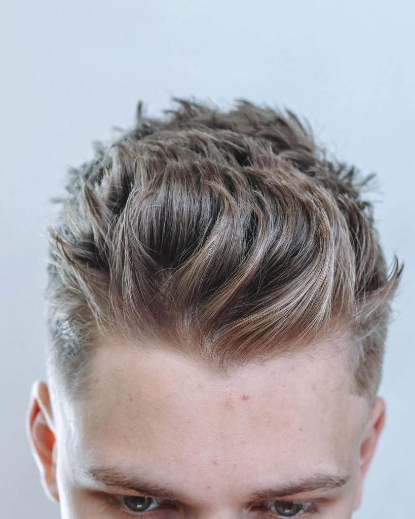 textured short haircuts for men