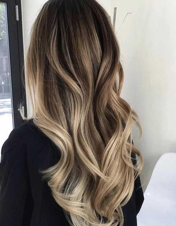 Балаяж русый блонд